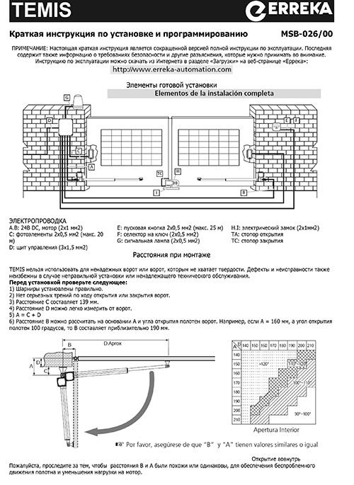 Інструкція по експлуатації привору TEMIS