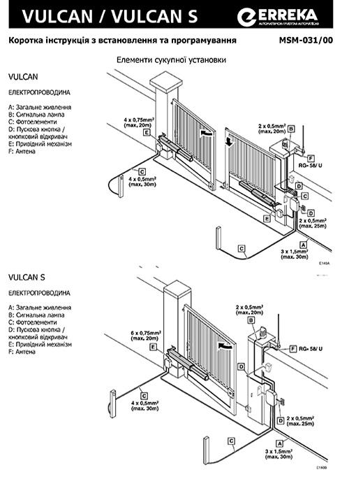 Інструкція по експлуатації привору VULCAN-VULCAN_S