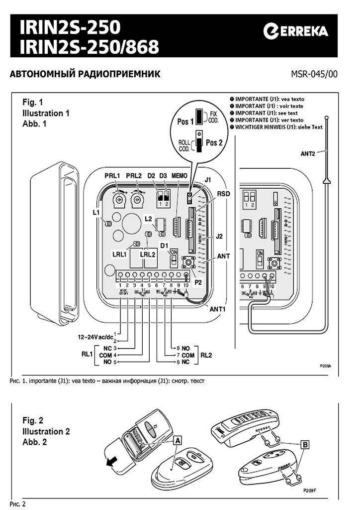 Радіоуправління Irin2S-250